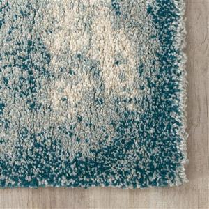 Kalora Sable Distressed Vignette Rug - 5' x 8' - Teal