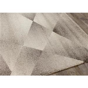 Kalora Sable Shaded Polygons Rug - 7' x 10' - Grey
