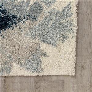 Kalora Sable Flower Pattern Rug - 5' x 8' - Grey
