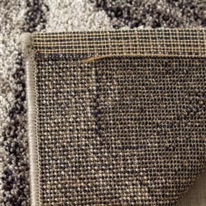 Kalora Sable Drawn Frond Rug - 5' x 8' - Grey