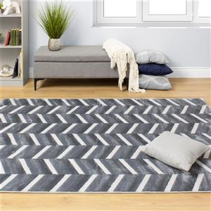 Kalora Sabine Alternate Stripes Rug - 8' x 11' - Grey
