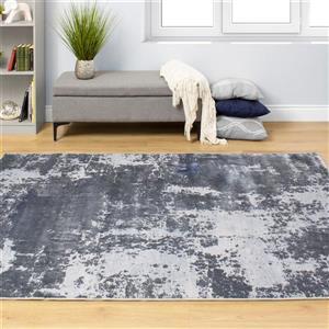 Kalora Sabine Distressed Abstract Rug - 5' x 8' - Grey