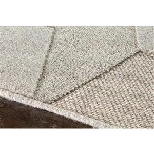 Kalora Ridge High-Low Pile Cubic Rug - 5' x 8' - Grey