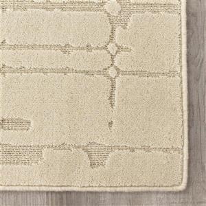 Kalora Ridge High-Low Pile Dotted Rug - 8' x 11' - Cream