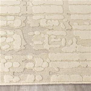Kalora Ridge High-Low Pile Dotted Rug - 5' x 8' - Cream