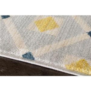 Kalora Promenade Dotted Trellis Rug - 8' x 11' - Grey