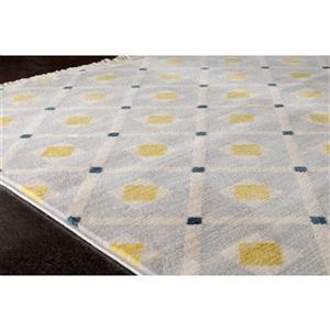 Kalora Promenade Dotted Trellis Rug - 5' x 8' - Grey