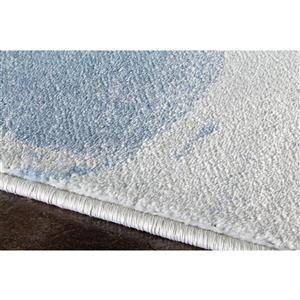 Kalora Platinum Drapery Shapes Rug - 5' x 8' - White