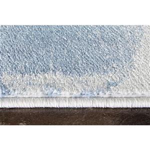 Kalora Platinum Drapery Shapes Rug - 2' x 4' - White