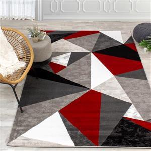 Kalora Platinum Triangles Rug - 7' x 10' - Red