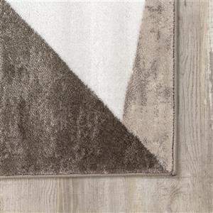 Kalora Platinum Triangles Rug - 5' x 8' - Red