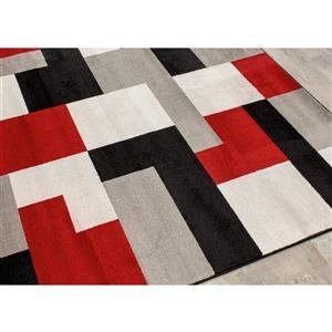 Kalora Platinum Blocks Rug - 8' x 11' - Red