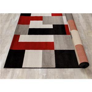 Kalora Platinum Blocks Rug - 7' x 10' - Red