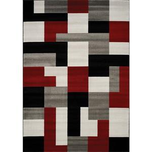 Kalora Platinum Blocks Rug - 3' x 5' - Red