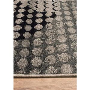 Kalora Platinum Ink Pad Rug - 8' x 11' - Grey