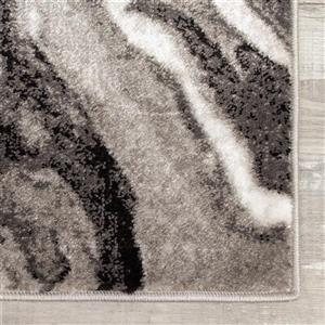 Kalora Platinum Sediments Pile Rug - 5' x 8' - Grey