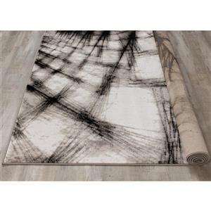 Kalora Platinum Shatter Rug - 5' x 8' - Grey