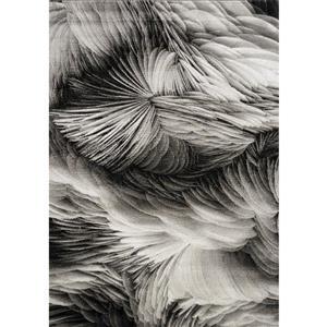 Kalora Platinum Feathers Rug - 8' x 11' - Grey