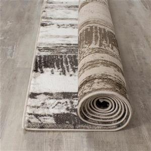 Kalora Platinum Brushed Ribbons Rug - 5' x 8' - Grey