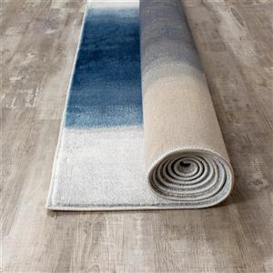 Kalora Platinum Crystal Stream Rug - 8' x 11' - Bleu