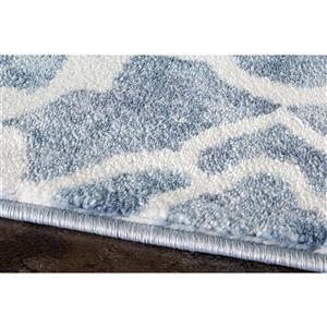 Kalora Platinum Fancy Trellis Pattern Rug - 8' x 11' - Blue