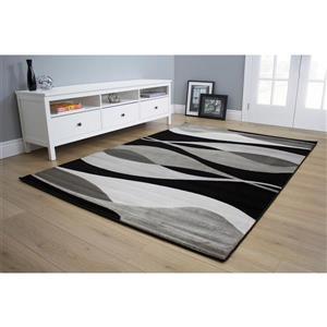 Kalora Platinum Overlay Twists Rug - 7' x 10' - Grey