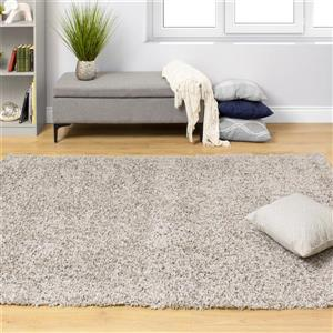 Kalora Plateau Soft Shag Rug - 5' x 8' - Light Grey