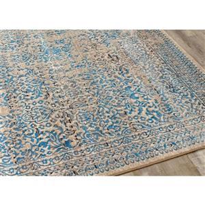 Kalora Parlour Distressed Traditional Rug - 5' x 8' - Blue