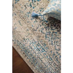 Kalora Parlour Distressed Traditional Rug - 2' x 4' - Blue