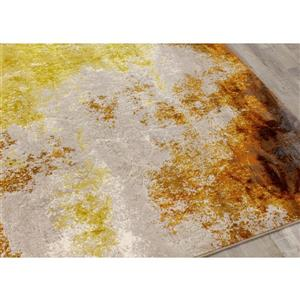 Kalora Parlour Distressed Abstract Rug - 8' x 11' - Cream