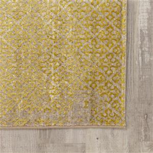 Kalora Parlour Yellow Subtle Tones Rug - 8' x 11' - Cream