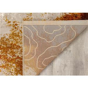 Kalora Parlour Distressed Abstract Rug - 5' x 8' - Cream