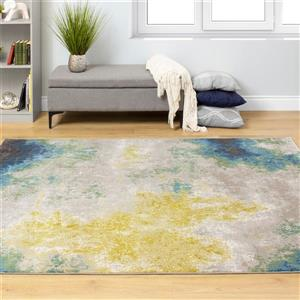 Kalora Parlour Distressed Abstract Rug - 5' x 8' - Cream