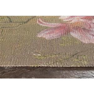 Kalora Morello Intricate Flower Painting Rug - 5' x 8'