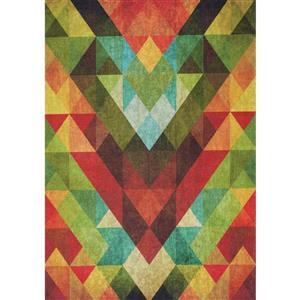 Kalora Morello Colourful Diamond Pattern Rug - 5' x 8'