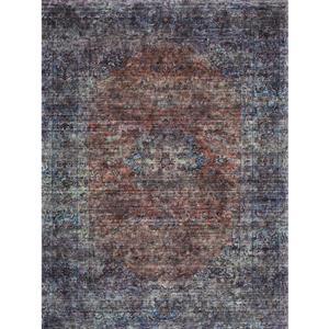 Kalora Morello Distressed Traditional Rug - 8' x 11' - Blue
