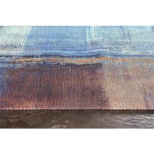 Kalora Morello Overlapping Paint Rug - 2' x 4' - Blue