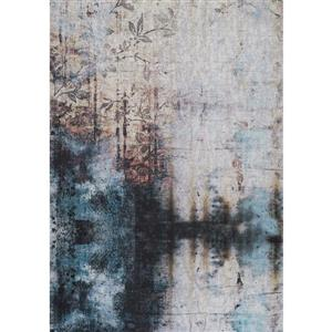 Kalora Morello Distressed Flower Rug - 5' x 8' - Beige