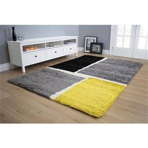Kalora Maroq Tilted Squares Soft Touch Rug - 8' x 11' - Grey