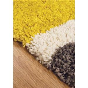 Kalora Maroq Tilted Squares Soft Touch Rug - 5' x 8' - Grey