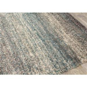 Kalora Maroq Distressed Stripes Soft Touch Rug - 5' x 8'
