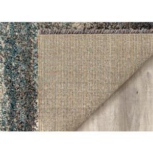 Kalora Maroq Distressed Stripes Soft Touch Rug - 7' x 10'