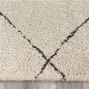 Kalora Maroq Uneven Trellis Rug - 8' x 11' - Cream