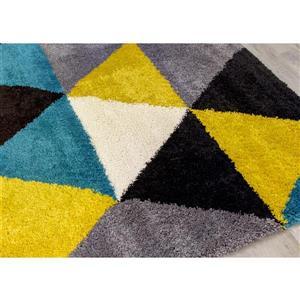 Kalora Maroq Triangles Soft Touch Rug - 8' x 11' - Yellow