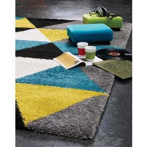 Kalora Maroq Colorful Triangles Rug - 5' x 8' - Yellow