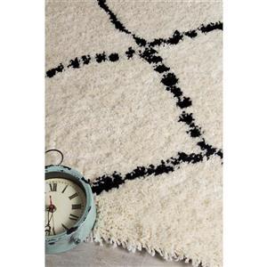 Kalora Maroq Diamonds Soft Touch Rug - 8' x 11' - Black