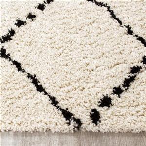 Kalora Maroq Diamonds Soft Touch Rug - 5' x 8' - Black