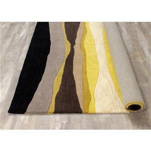 Kalora Manika Landscape Lines Rug - 5' x 8' - Yellow