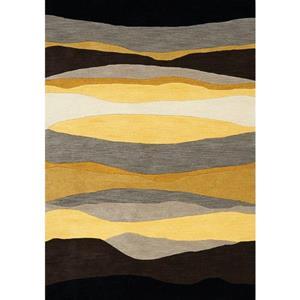 Kalora Manika Landscape Lines Rug - 8' x 11' - Yellow