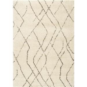 Kalora Lane Distressed Tribal Rug - 5' x 8' - Cream